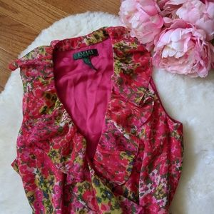 Ralph Lauren garden floral midi wrap dress